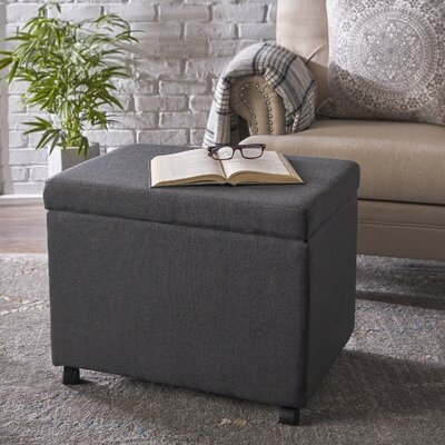 Blake Home Office Filing Storage Ottoman Upholstery: Dark Gray