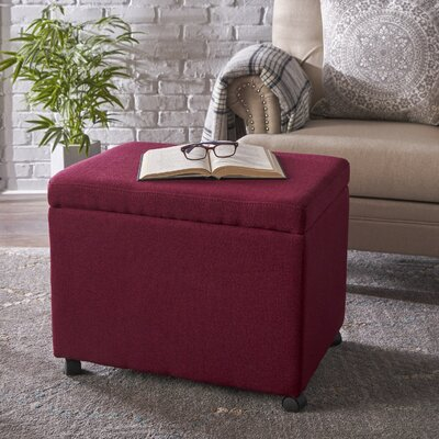 Blake Home Office Filing Storage Ottoman Upholstery: Deep Red