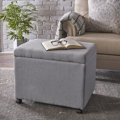 Blake Home Office Filing Storage Ottoman Upholstery: Light Gray