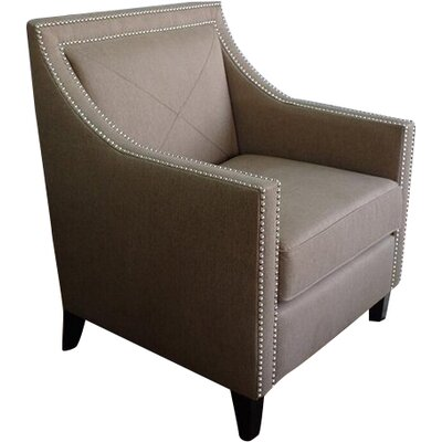Detroit Armchair Upholstery: Chestnut, Finish: Dark Arabica