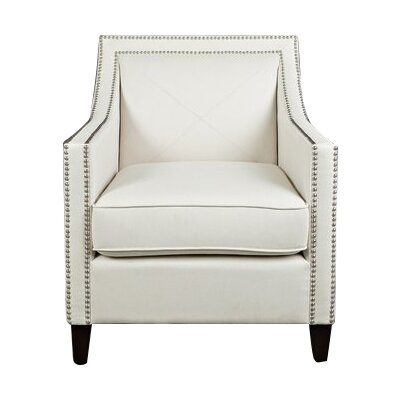 Detroit Armchair Upholstery: Ivory, Finish: Dark Arabica