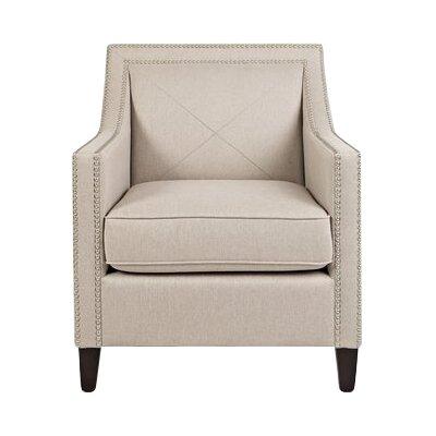 Detroit Armchair Upholstery: Taupe, Finish: Dark Arabica