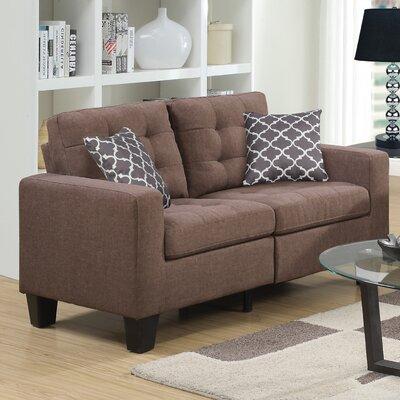 Bateson Loveseat Upholstery: Beige