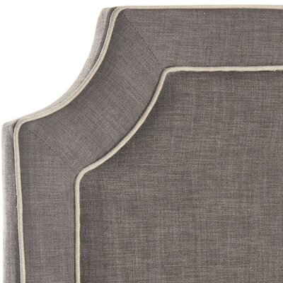 Cloverdale Upholstered Panel Headboard Size: King, Color: Charcoal, Upholstery: Linen