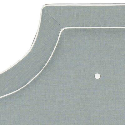Ottoville Upholstered Panel Headboard Size: Full, Color: Sky Blue / White