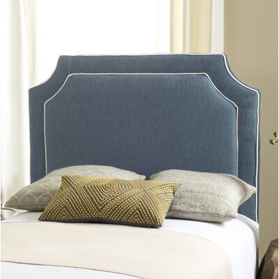 Cloverdale Upholstered Panel Headboard Size: King, Color: Denim Blue, Upholstery: Polyester