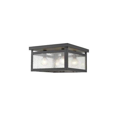 Brundidge 4-Light Flush Mount Glass Type: Seeded Glass