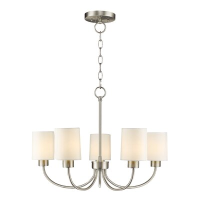 Graham 5-Light Shaded Chandelier Finish: Brushed Nickel