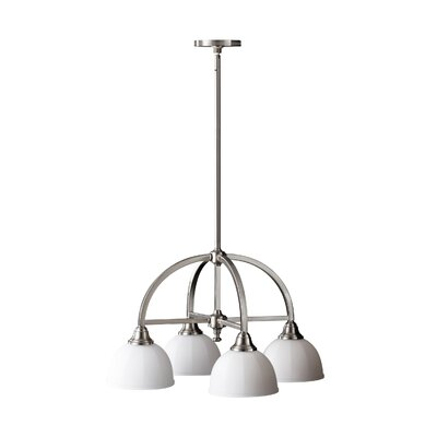 Clouser 4-Light Chandelier Finish: Brushed Steel