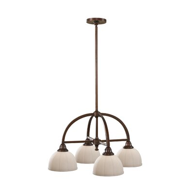 Clouser 4-Light Chandelier Finish: Heritage Bronze