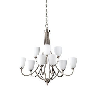 Clouser 9-Light Chandelier Finish: Brushed Steel
