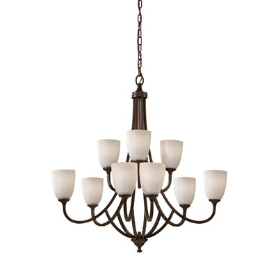 Clouser 9-Light Chandelier Finish: Heritage Bronze
