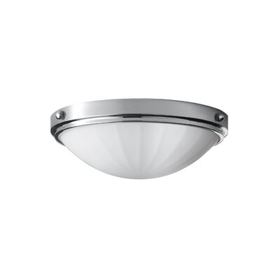 Clouser 2-Light Indoor Flush Mount Finish: Chrome, Size: 4.375 H x 13D