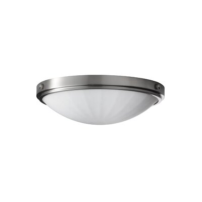 Clouser 2-Light Indoor Flush Mount Finish: Brushed Steel, Size: 4.375 H x 13D