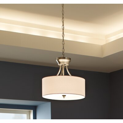 Foland 2-Light Semi Flush Mount Finish: Burnt Sienna, Bulb Type: Incandescent Medium 60W