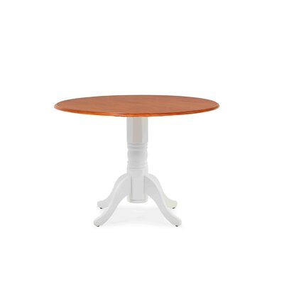 Chesterton Drop Leaf Dining Table Color: White/Cherry