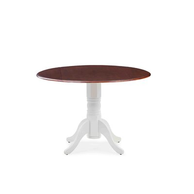 Chesterton Drop Leaf Dining Table Color: White/Mahogany