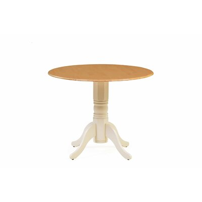 Chesterton Drop Leaf Dining Table Color: Buttermilk/Oak
