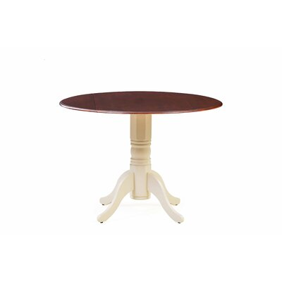 Chesterton Drop Leaf Dining Table Color: Buttermilk/Mahogany