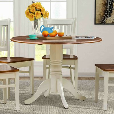 Chesterton Drop Leaf Dining Table Color: Buttermilk/Cherry, Color: White/Oak