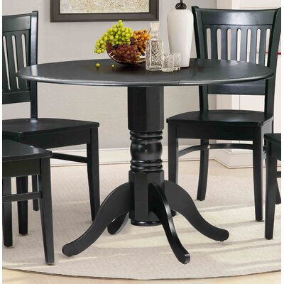 Chesterton Drop Leaf Dining Table Color: Black/Black