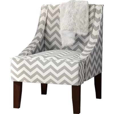 Goldhorn Armchair Upholstery: Zig Zag  Ash/White, Nailhead Detail: No Trim