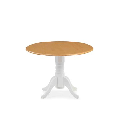 Chesterton Drop Leaf Dining Table Color: White/Oak
