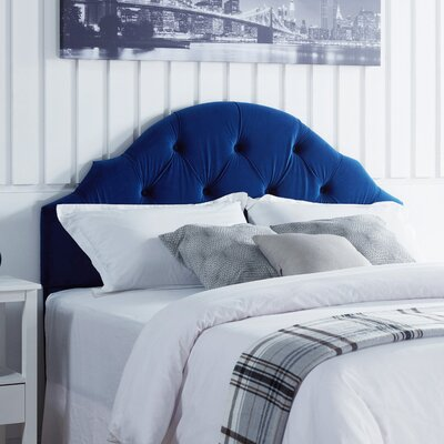 Everett Upholstered Panel Headboard Upholstery: Sapphire Velvet, Size: Full/Queen