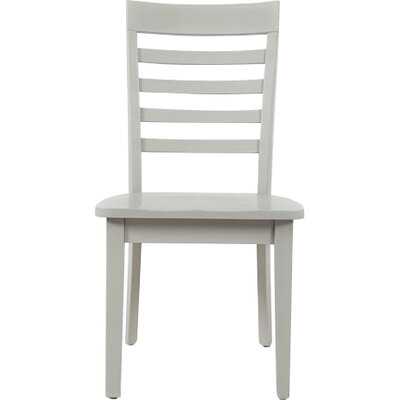 Dunster Ladder Back Side Chair (Set of 2) Finish: Dove