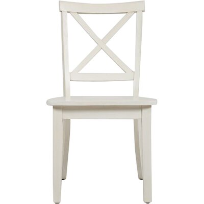 Dunster X Back Side Chair (Set of 2) Finish: Linen