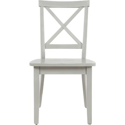 Dunster X Back Side Chair (Set of 2) Finish: Dove