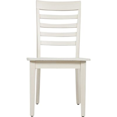 Dunster Ladder Back Side Chair (Set of 2) Finish: Linen