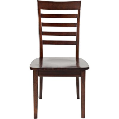 Dunster Ladder Back Side Chair (Set of 2) Finish: Cherry