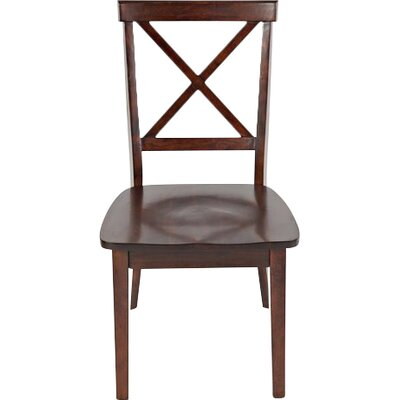 Dunster X Back Side Chair (Set of 2) Finish: Cherry