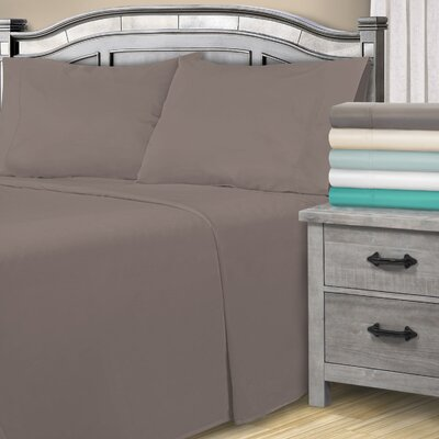 Harvel 1800 Thread Count Sheet Set Color: Gray, Size: Queen