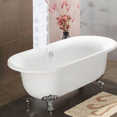 Vernon Clawfoot 70 x 31 Soaking Bathtub Claw Foot Finish: Polished Chrome, Faucet Holes: Yes