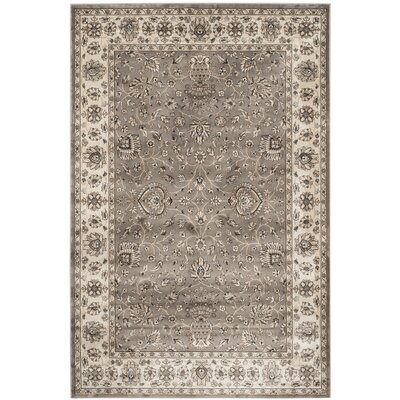 Hewitt Grey / Ivory Area Rug Rug Size: Rectangle 51 x 77