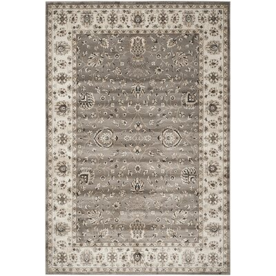 Hewitt Grey / Ivory Area Rug Rug Size: Rectangle 8 x 11
