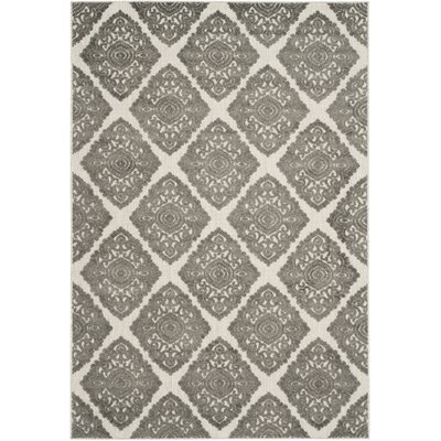 Mannox Cream/Gray Indoor/Outdoor Area Rug Rug Size: Rectangle 53 x 77