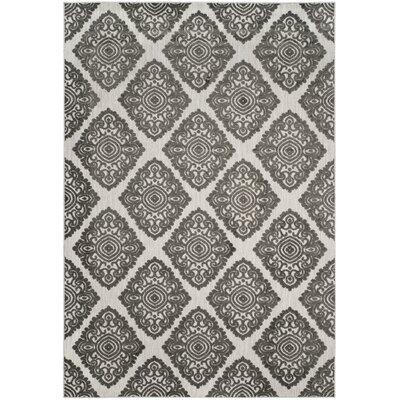 Mannox Cream/Gray Indoor/Outdoor Area Rug Rug Size: Rectangle 67 x 96