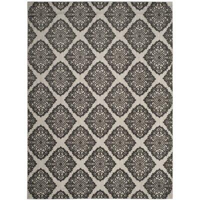 Mannox Cream/Gray Indoor/Outdoor Area Rug Rug Size: Rectangle 8 x 112