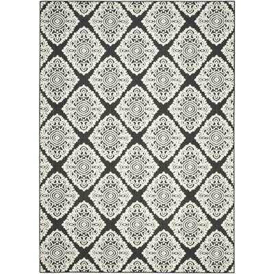 Mannox Black/Cream Indoor/Outdoor Area Rug Rug Size: Rectangle 8 x 112