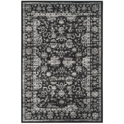 Bainsby Black/Light Grey Area Rug Rug Size: Rectangle 51 x 77