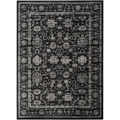 Bainsby Black/Light Grey Area Rug Rug Size: Rectangle 8 x 11