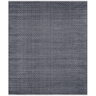 Boston Hand-Woven Navy Area Rug Rug Size: Rectangle 8 x 10
