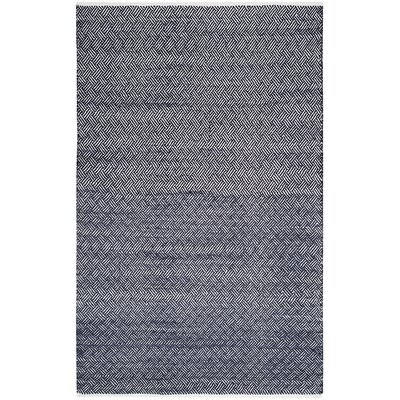 Boston Hand-Woven Navy Area Rug Rug Size: Rectangle 5 x 8