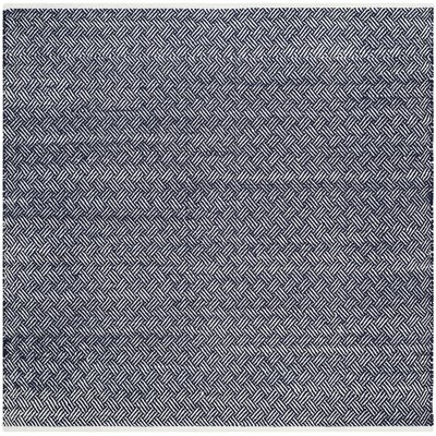 Boston Hand-Woven Navy Area Rug Rug Size: Square 6