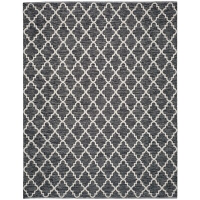 Valley Hand-Woven Black/Ivory Area Rug Rug Size: Rectangle 8 x 10