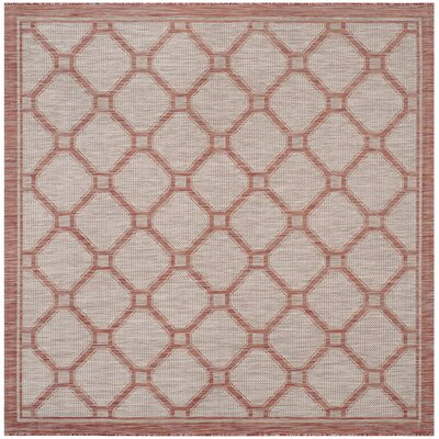 Rockbridge Red/Beige Indoor/Outdoor Area Rug Rug Size: Square 67