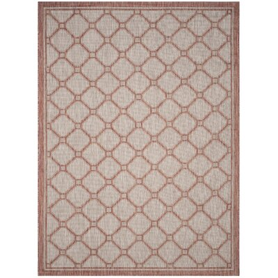 Rockbridge Red/Beige Indoor/Outdoor Area Rug Rug Size: Rectangle 8 x 11